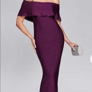 Marciano off the shoulder bandage gown